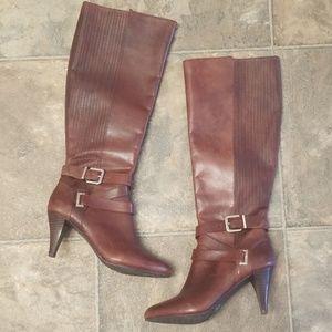 Antonio Melani Leather Boots Size 6.5